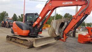 2014 Kubota KX080 4W CERTIFIÉ .