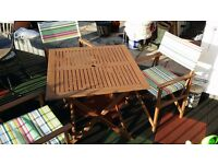Table and three chairs (all foldable) in very good condition