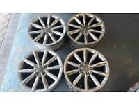 Genuine Audi vw alloy wheels 18 inch pcd 5x112