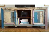 Reclaimed Solid Wood Sideboard TV Console Unit