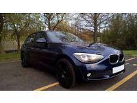 BMW 1SERIES, EXCELLENT CONDITIONS, FULL BMW SERVICE HISTORY, SATNAV, NEW BLACK ALLOYS, BT, 32K MILES