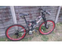 Maxima DH race bike 18speed w/ disc brake & suspension