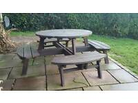 Outdoor pub style table and chairs