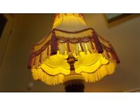 2 Vintage Downton Abbey Style Tasselled Lampshades - Elegant & Excellent.