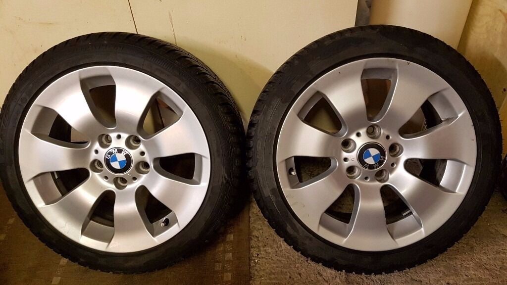 BMW 3 series OEM Style 158 17 Alloy Wheels and Goodyear winter