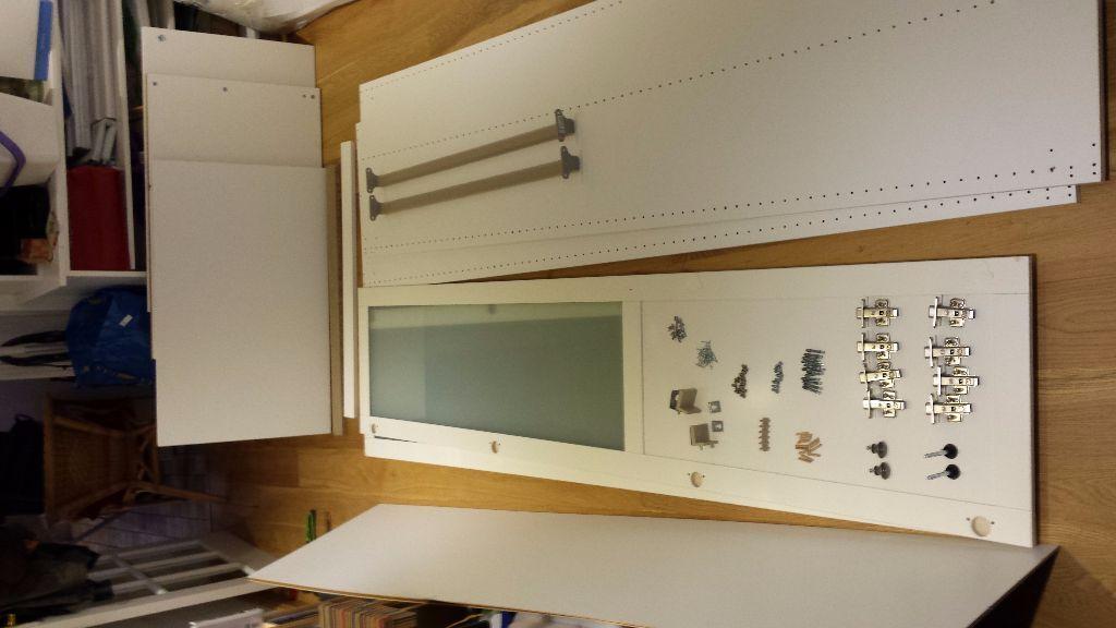 PAX HEMNES IKEA Wardrobe with half opaque glass doors u00a350 ono in Oakham, Rutland Gumtree