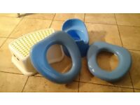Toilet seats, potty and step