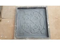 X12 fancy 450x450 oaving slab moulds concrete tiles flags