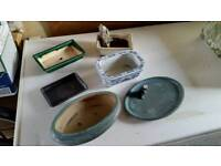 A selection of Bonsai dishes