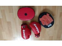 6 Oz Boxing Gloves and Punch Pads