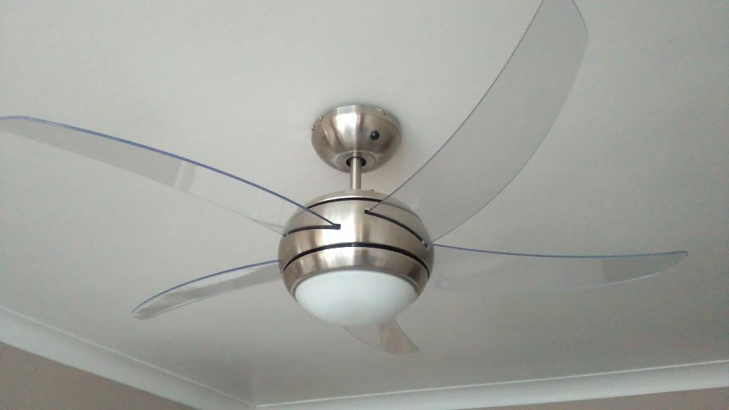 Argos Manhattan Satin Ceiling Light Fan Nickel