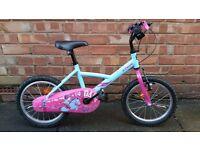 Girls 16inch B-twin bike in pink, blue and purple