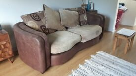 3 Seater Sofa, 2 Seater Sofa and Foot Stool - Very Good Condition