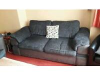 3 seater settee, cuddle chair and poof