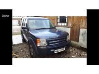 2005 05reg Land Rover Discovery 3 2.7tdv6 Blue Spares or repair