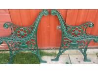 Garden bench iron ends