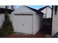 Marley concrete sectional garage with roller door