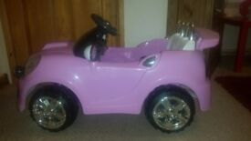 PINK BATTERY OPERATED COUPE CAR
