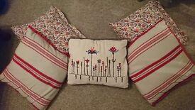Next & Ikea cushions