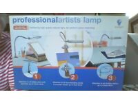 Artists lamp made by Daylight includes 18w natural daylight tube. New in box. Professional standard.