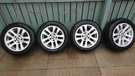 """16"""" bmw alloys wheels and tyres 5x120"""