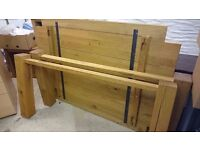Large solid Oak dinning table excellent condition seats 6