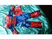 SPIDERMAN FANCY DRESS COSTUME, AGE 3-4 YEARS