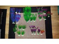 Plastic Plants big pack for Aquarium