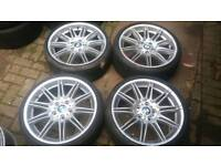 GENUINE BMW MV4 19 INCH ALLOY WHEELS NO CRACKS WELDS E90 E92 330 325 335 M SPORT 5X120 F30 SE