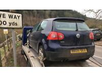 2005 VW GOLF GTI MK5 BREAKING FOR SPARES PARTS ESSEX