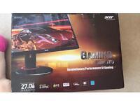 Acer 27 inch 1440p 144hz monitor xb270hu