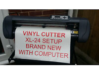 Vinyl Cutter / Plotter & Computer Fully Loaded ready to go ,Sign making Set up Wall art /Van Signage