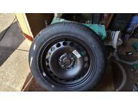 Brand new 215/55/16 bridgestone turanza er300 on passat estate spare wheel