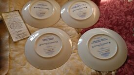 Star Trek collectable plates 1 boxed with certificate others perfect condition sell together or each