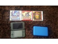 New nintendo 3ds XL with 3 games and carry case