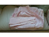 Pale pink bedroom curtains