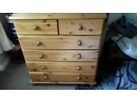 Pine chest drawers draws