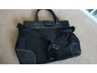DAVID BECKHAM BLACK TOTE SHOULDER STRAP FLIGHT HANDLE BLACK BAG