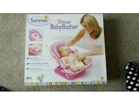 Summer deluxe pink baby bath