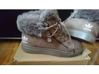 44ed0d142 Men Womens Adidas originals Hi top Superstar Trainers shoes size 5 Khakee  Nike air max 90