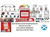 Giant Warehouse Sale Everything Must Go Discount up to 70% From 22/02 To 04/03/2018