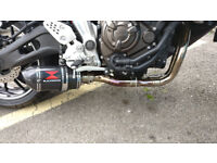BLACKWIDOW full exhaust system for Yamaha MT-07 quick sale