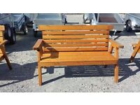 Great value now half price to clear wooden garden bench