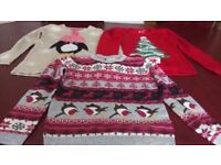 3 children's Christmas jumpers. Age 7-8 & 9. £5 only for all 3.