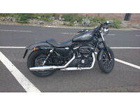 Harley Davidson Sportster 883 black. Year end of 2013. It has ABS, smart alarm, two fob, new MOT .