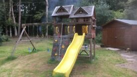 Large wooden climbing frame/playhouse