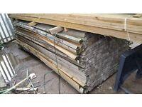 Treated Arris Rail / Fencing Back Rail (47mm x 50mm) 3.6mtr Lengths