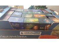 Buffy and Angel fans, 13 Buffy video box sets plus 4 Angel video box sets