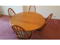 Ercol Vintage 1960s Drop-leaf Dining Table & Chairs
