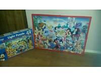 Disney light up puzzle in frame